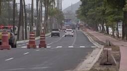 Novo acesso à travessia de balsas é implantado nesta segunda-feira (2) em Santos