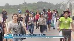 Interdição da Ponte dos Barreiros traz transtornos a moradores de São Vicente