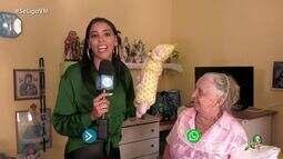 Niara Meireles faz uma visita especial à idosas da Casa de Nazaré
