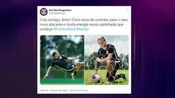 Comentaristas falam das características do Artur e negociação com o Bragantino