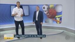 Franca Basquete perde 2º jogo contra o San Lorenzo pela Champions League das Américas