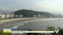 São Vicente completa 488 anos nesta quarta-feira