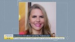 Ministra paraguaia é ameaçada por bandidos durante passeio em Guarujá