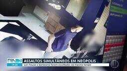 Bandidos assaltam simultaneamente lan house e barbearia na Zona Sul de Natal