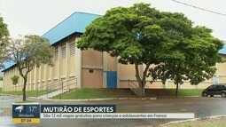 Franca realiza 'Mutirão de Esportes' com 12 mil vagas para crianças e adolescentes