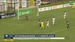 Monte Azul vence o Votuporanguense por 3 a 1 no Campeonato Paulista