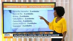Campanha de vacinação conta com 40 postos em Salvador, incluindo pontos de drive thru