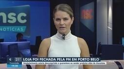 Polícia fecha loja que descumpriu normas do decreto estadual em Porto Belo