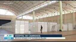 Em Marabá, começa montagem de hospital de campanha para atender pacientes da Covid-19