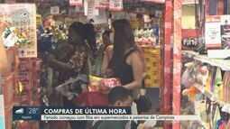 Feriado de Páscoa começou com filas em supermercados e peixarias de Campinas