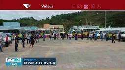 Motoristas de transporte escolar fazem protesto em Guaçuí, ES