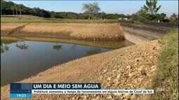 Prefeitura de Cocal do Sul aumenta tempo de racionamento de água