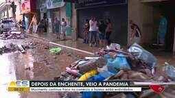 Após enchente de janeiro, comerciantes do Sul do ES enfrentam mais prejuízos na pandemia