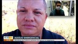 Ainda tem morador de Colatina que não conseguiu receber o auxílio emergencial