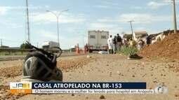 Homem morre e mulher é ferida em atropelamento em Anápolis