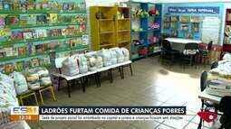 Sede de projeto social é arrobada e crianças ficam sem doações em Vitória