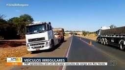 PRF apreende seis veículos de carga em Rio Verde