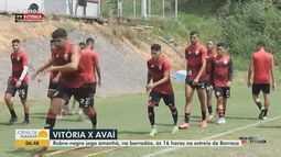 Novo técnico comanda o primeiro treino à frente do Vitória, que enfrenta o Avaí no sábado