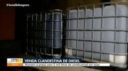 Preso suspeito de venda clandestina de diesel em Aparecida de Goiânia