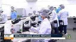 Decreto libera aulas práticas na região do Cariri