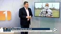 Paraguai aplica multa para quem for flagrado sem máscara