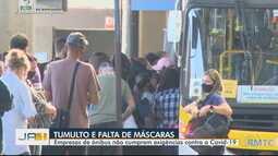 Empresas de ônibus não cumprem exigências contra a Covid-19, na Grande Goiânia
