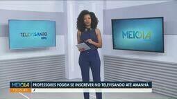Professores podem se inscrever no Televisando até amanhã