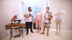 Menilson Filho visita Tobias Barreto e conversa com o artista Henrique Meneses