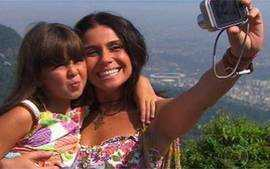 Rafaela e Dora visitam o Corcovado