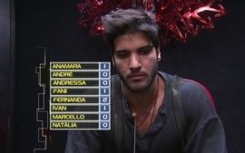 Marcello vota em Anamara no 5 Paredo do BBB13