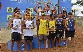 Definidos os campees da etapa Campo Grande do Circuito Sub-23 de vlei de praia