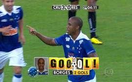 GOL DO CRUZEIRO! Depois de roubada de bola de Egdio, Borges marca com chute preciso, 4&#x27;