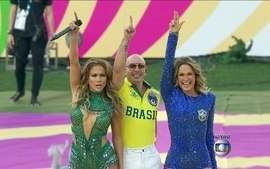 Claudia Leite, Jennifer Lopez e Pitbull cantam a música da Copa na cerimônia de abertura