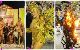 Veja trechos do desfile da Mocidade no carnaval do Rio de Janeiro