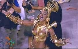 Rainha Cris Vianna é o tesouro africano da Imperatriz