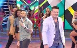Marcos & Belutti abrem 'Domingão' cantando 'Aquele 1%'