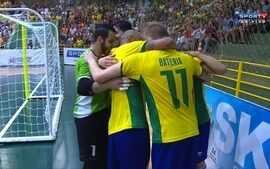 Os gols de Brasil 5 x 0 Paraguai pelo amistoso internacional de futsal