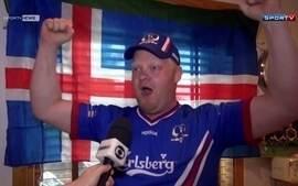 Torcedor fanático da Islândia mostra paixão pela seleção