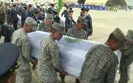 Corpos das vítimas do acidente com o avião da Chapecoense já estão a caminho do Brasil