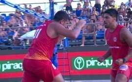 Tarzan e Goró vencem Felipe e Bruninho e conquistam título no desafio de futevôlei