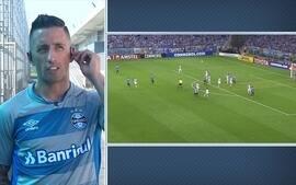 """Barrios explica lance do gol e diz: """"Nem toquei nele"""""""