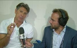 Roger conversa com Renato Gaúcho sobre o título da Libertadores