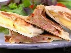 Pão Árabe Recheado - Foto de Mais Você na TV
