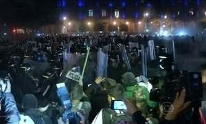 Protesto no México termina com violência