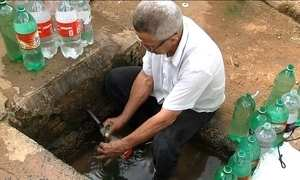 Moradores do interior de SP usam água contaminada de bicas e fontes