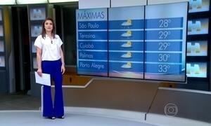 Previsão é de frente fria para o Sul do Brasil