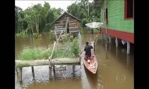 Alagamentos no Amazonas deixa seis municípios em emergência