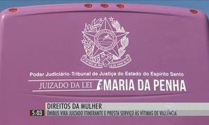 Ônibus especial presta serviço às mulheres vítimas de violência no ES