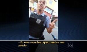 Policiais militares agridem motociclista durante abordagem no Rio