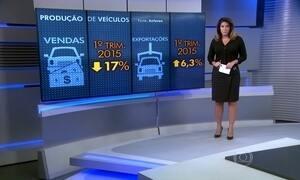 Produção de carros cai 7% em março e indústria deve encolher neste ano
